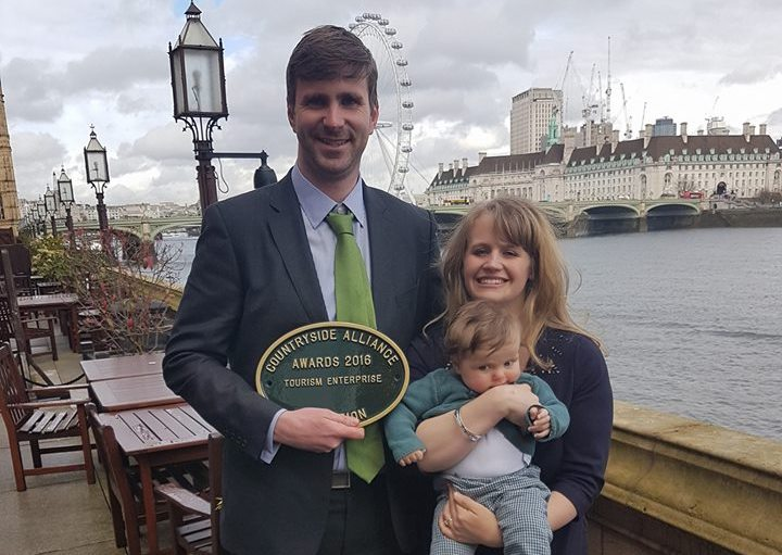 Bluebell Dairy Collect Award from Parliament