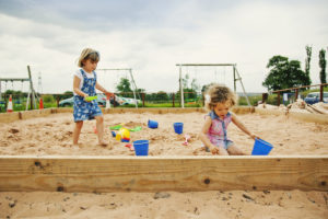 Bluebells Play Park - Girls playing in sandpit
